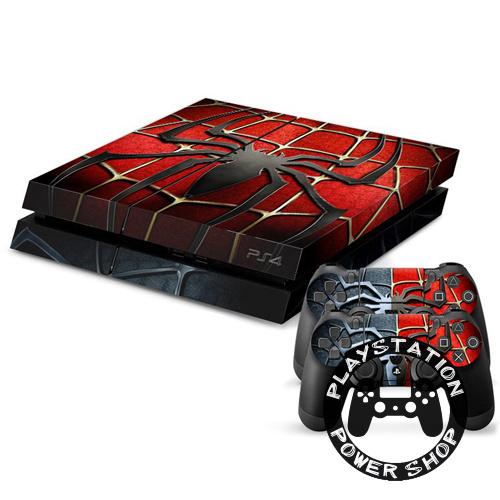 Виниловая наклейка на консоль Spider man