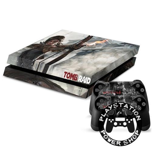 Виниловая наклейка на консоль Lara Croft