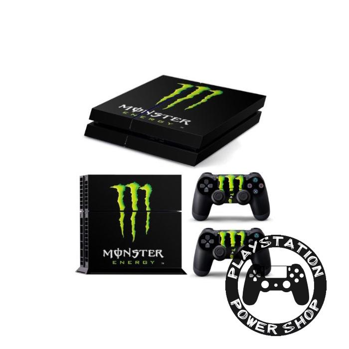 Виниловая наклейка на консоль Monster