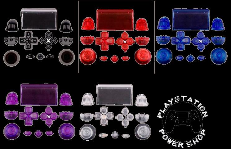 Набор всех кнопок (прозрачные)